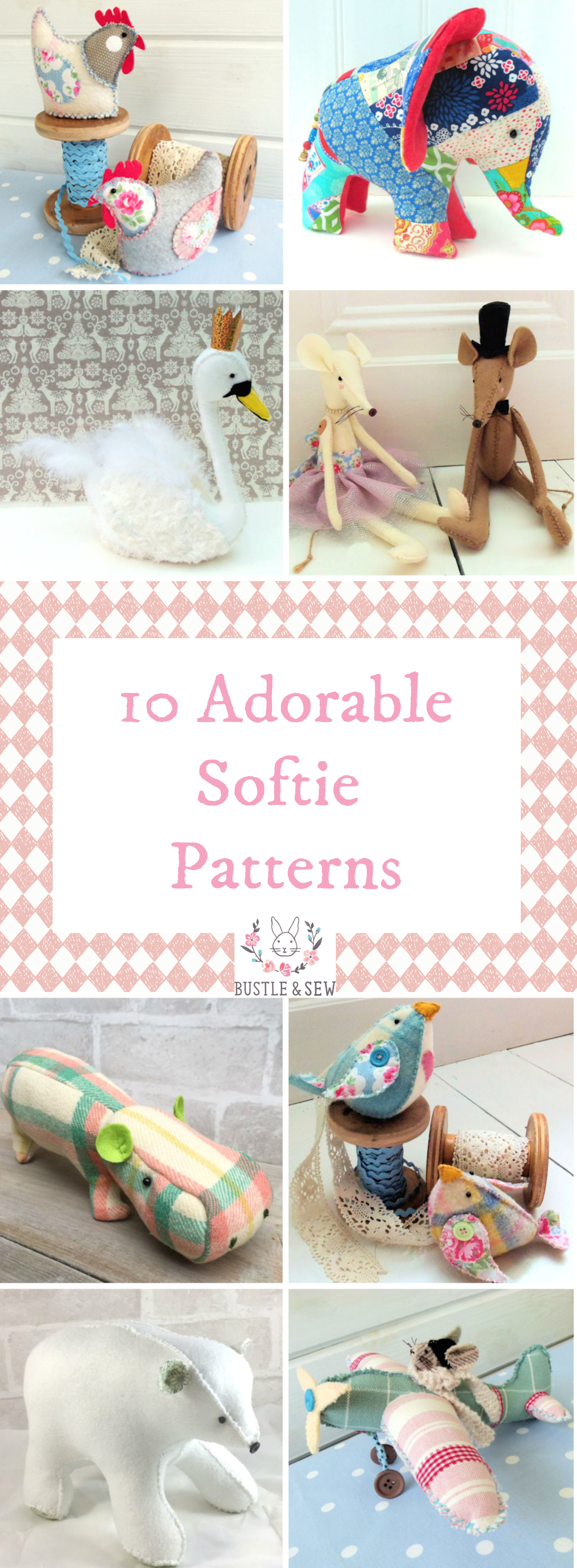 10 Bustle & Sew Softies to make this Christmas – Bustle & Sew