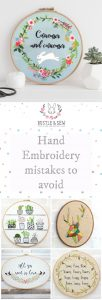 Where Did it all go Wrong? Avoiding some Common Hand Embroidery Mistakes